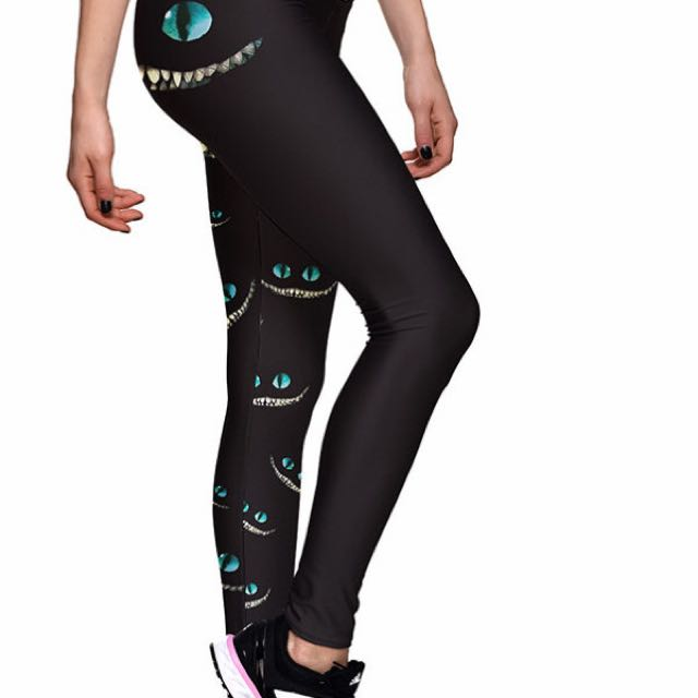 Alice In Wonderland Theme Lotus Leggings