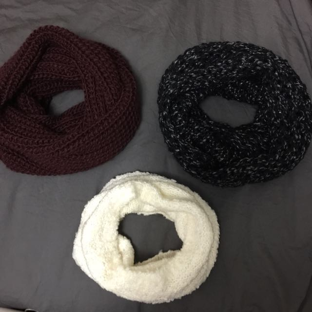 ASSORTED INFINITY SCARVES/SNOOD