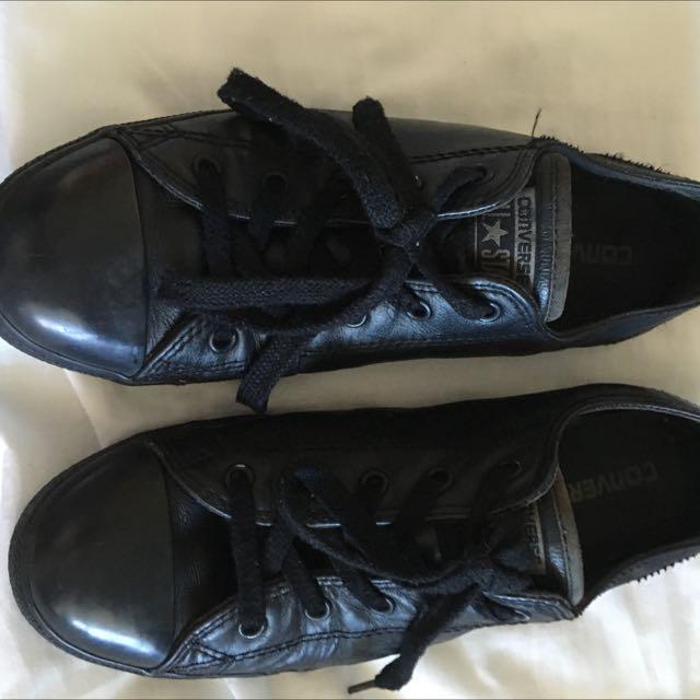 Authentic Black Converse Size 10 Women's