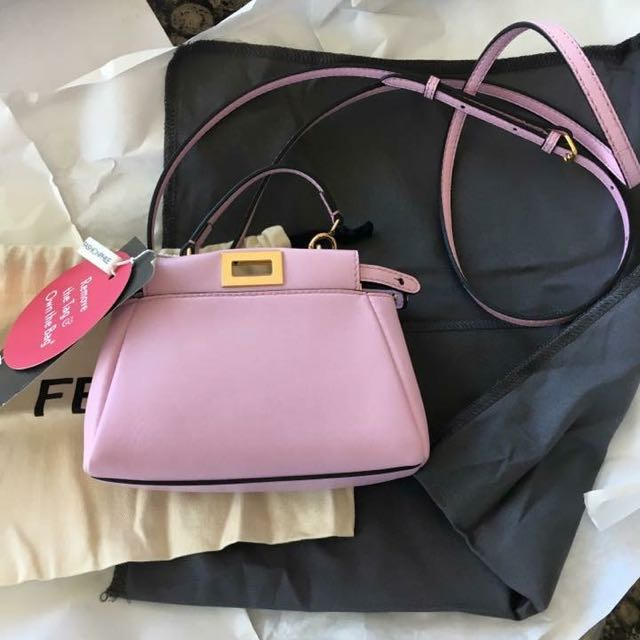 Authentic Fendi Micro Peekaboo - Lilac
