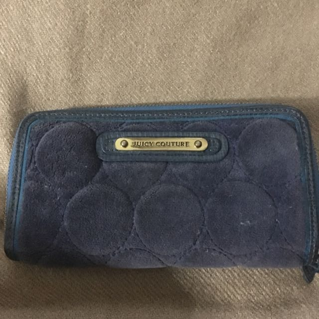 Authentic Juicy Couture long zip wallet
