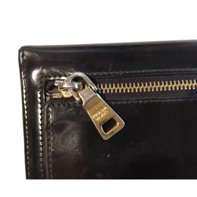Authentic Prada Wallet Black Leather
