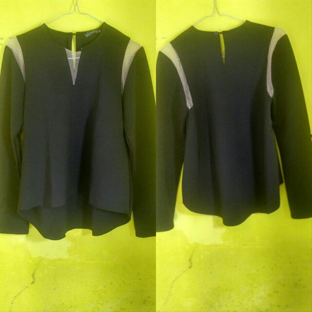 Black Blouse Asymetris