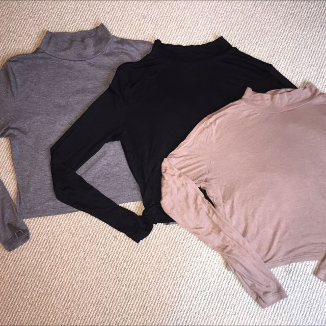 (BULK BUY) Cropped Turtlenecks