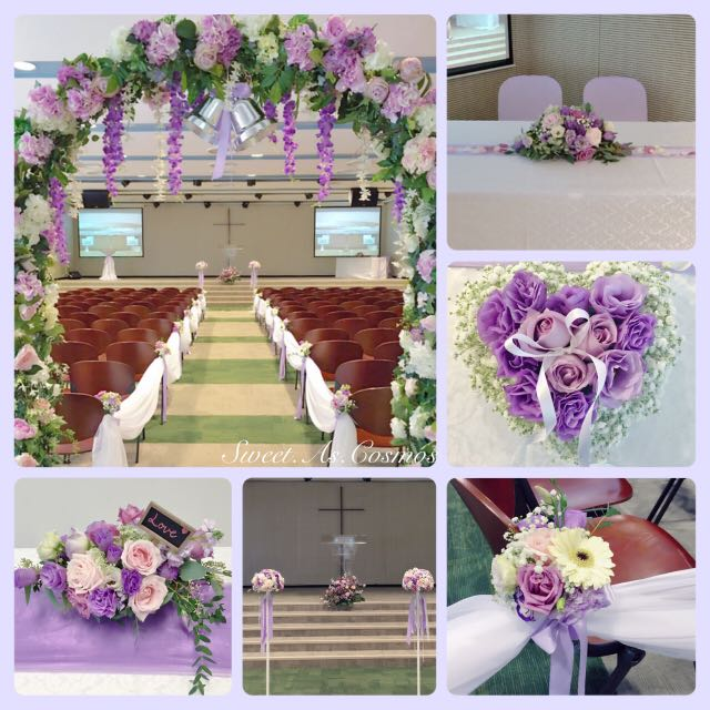 Church wedding decor customisable singapore life church pls photo photo junglespirit Image collections