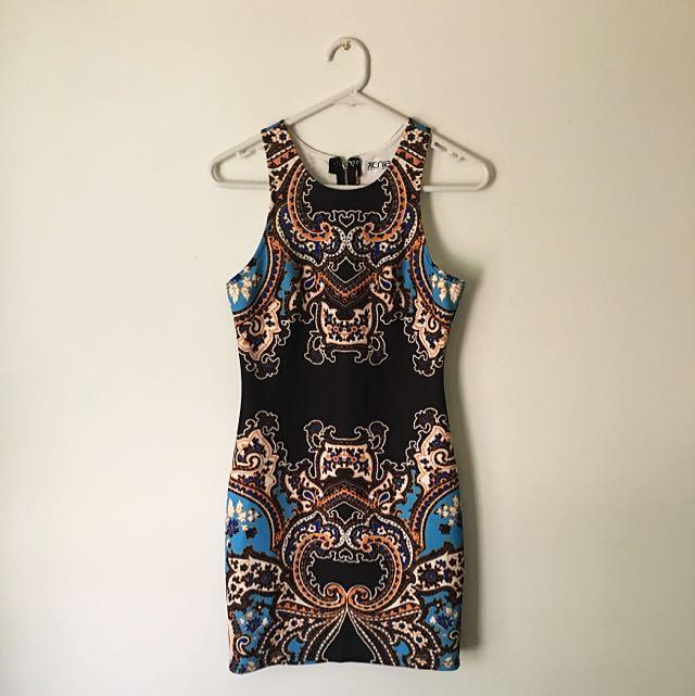 Dress - scuba material. Size 8 AUS