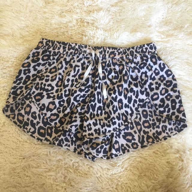 Finders Keepers Leopard Print Shorts - Size XS