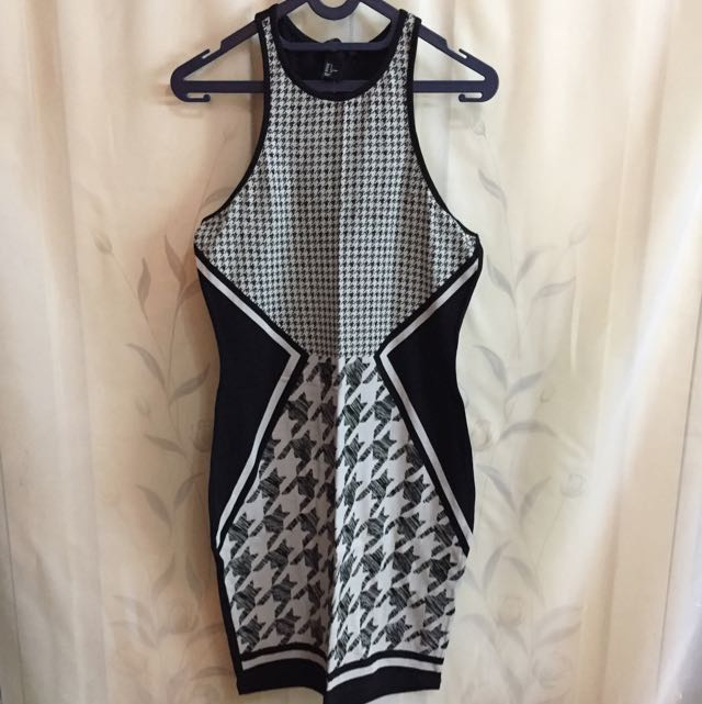 H&M Black & White Dress