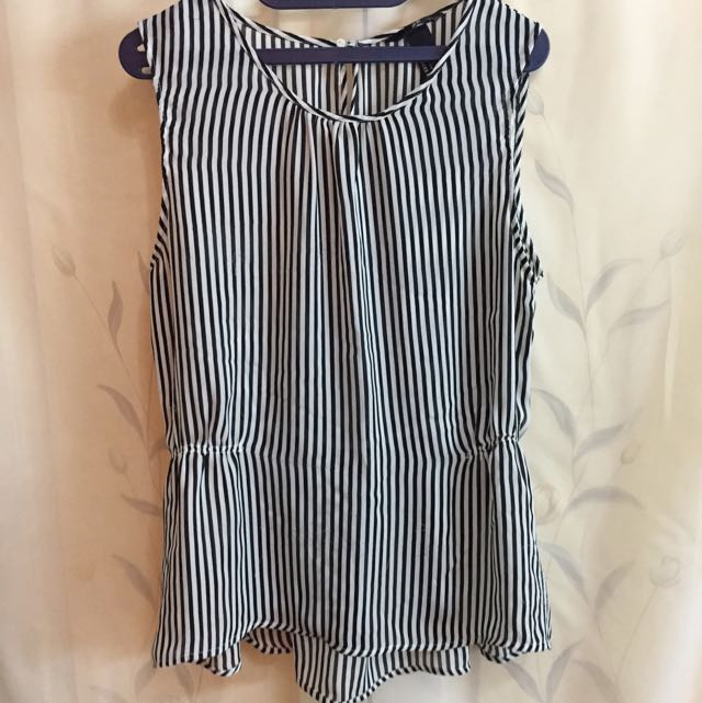 H&M Blouse Garis