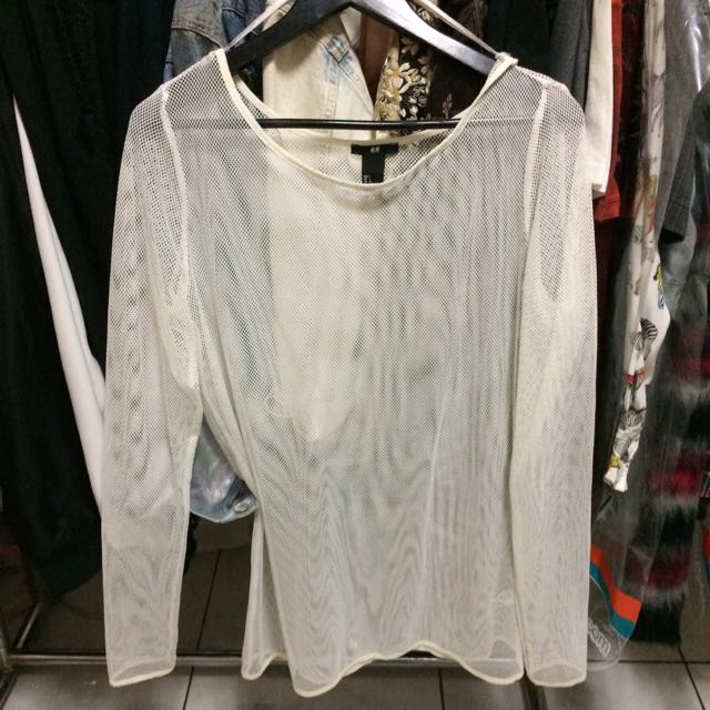 H&m Mesh Long Sleeve Top