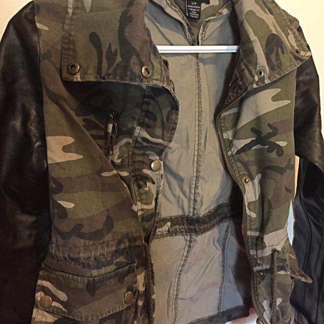 Leather Camo jacket