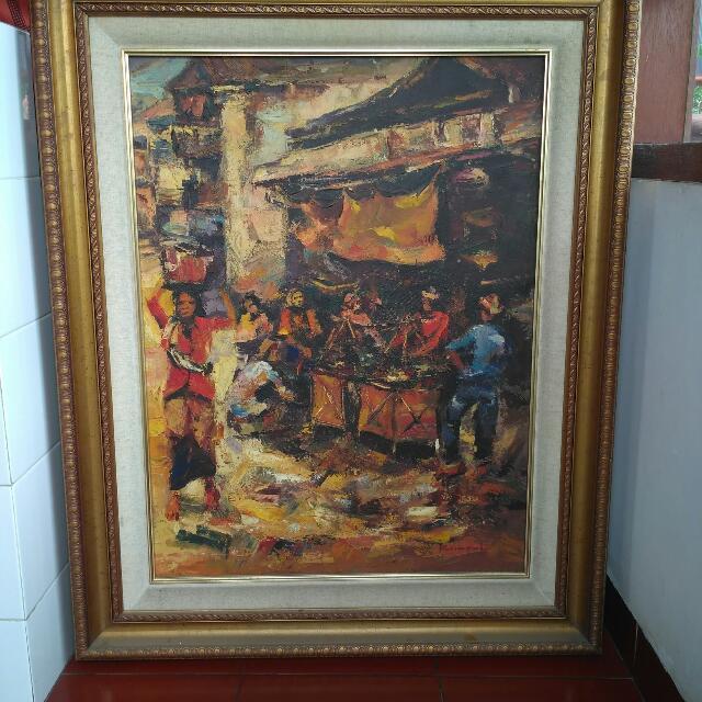 Lukisan Decorative Acrylic On Canvas Karya Koempoel