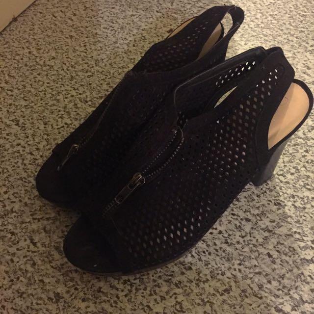 Mesh Black Boots