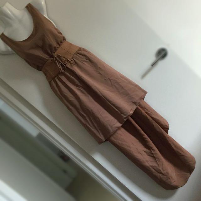 Mocha Chocolate Brown Jorge Dress Size 10