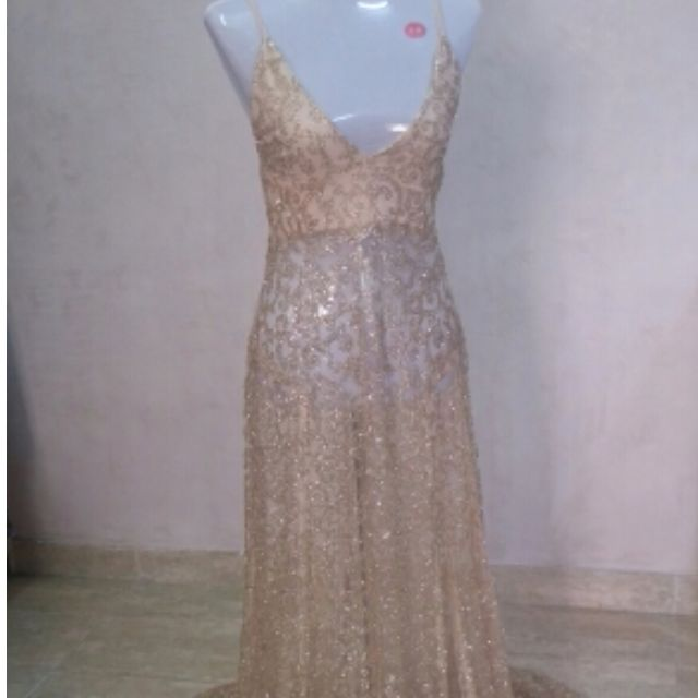 REDUCED**Mouth Dropping Sequin Gold Maxi Dress