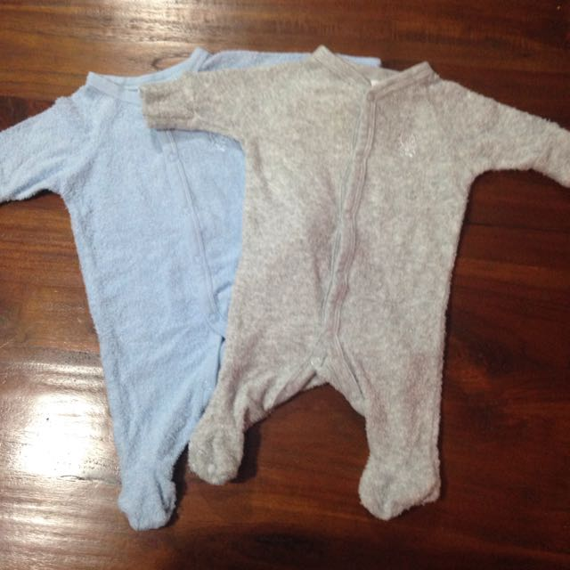 Newborn Size 0000 Playsuits