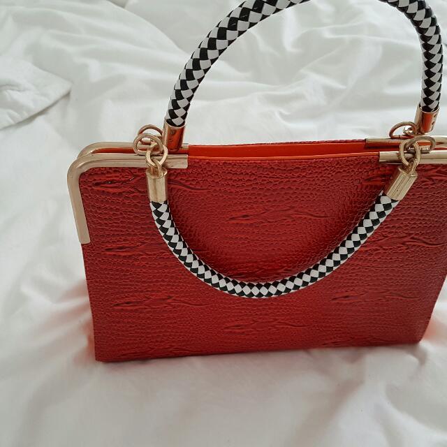 Orange Medium Size Bag