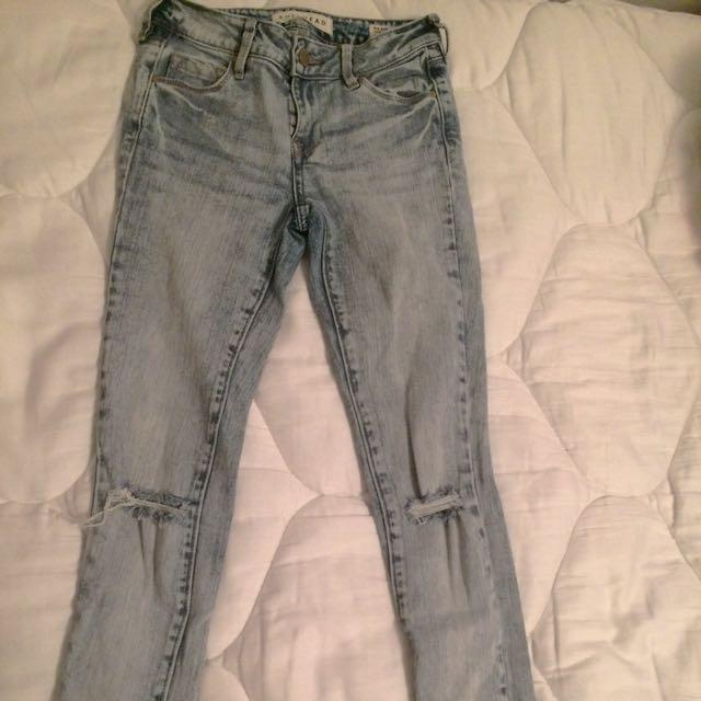 PacSun Acid Wash Mid Ride Jeans
