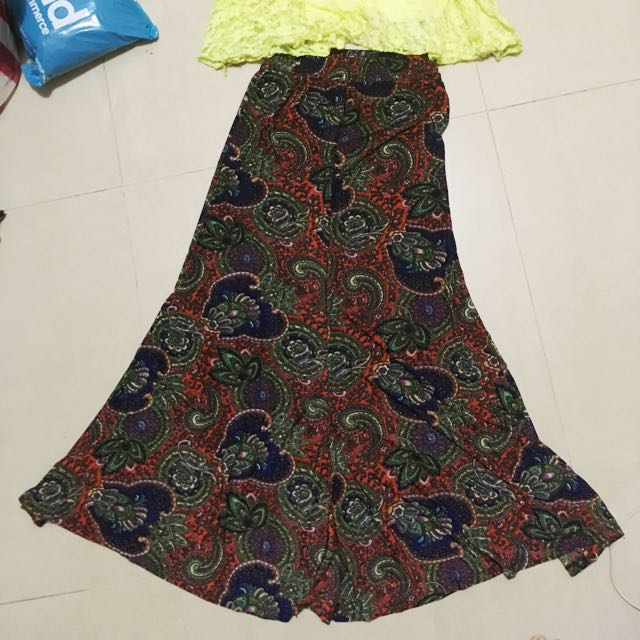 Paisley Flowy Skirt With Matching Top