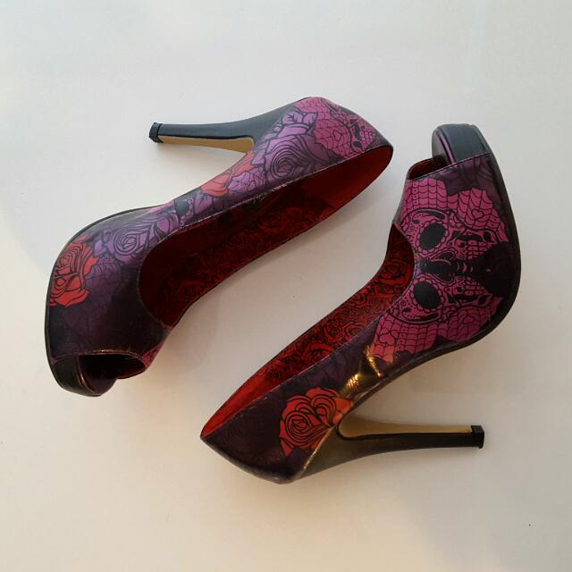 Pink, Red And Purple Heels