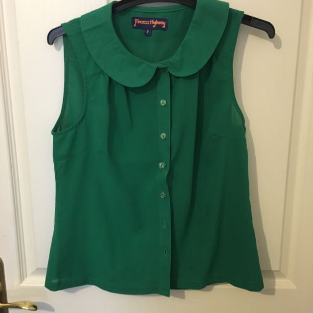 Princess Highway Green Collared Shirt