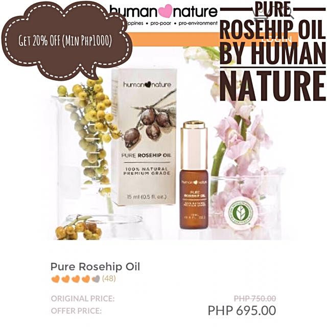 Pure Rosehip Oil By Human Nature