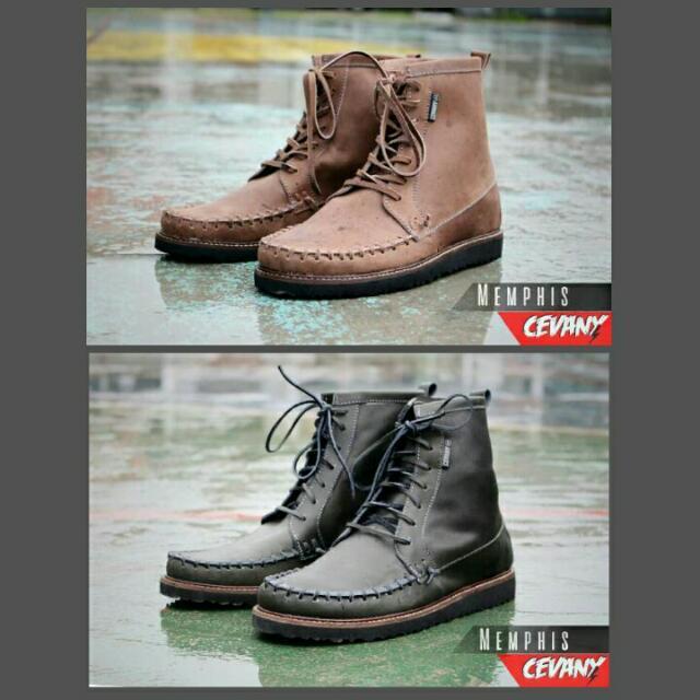 Sepatu Boots Kulit Original Cevany c6b2c5ea0b