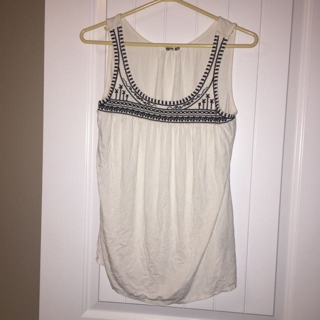 Simple white tank top
