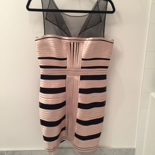 Size 12 BCBG Champaign and Mesh Dreas