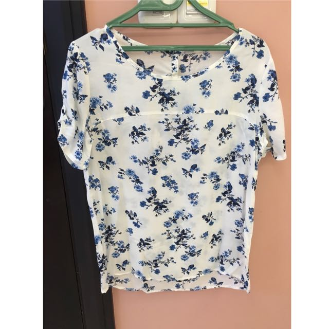 S.Oliver Blue Flowers Shirt