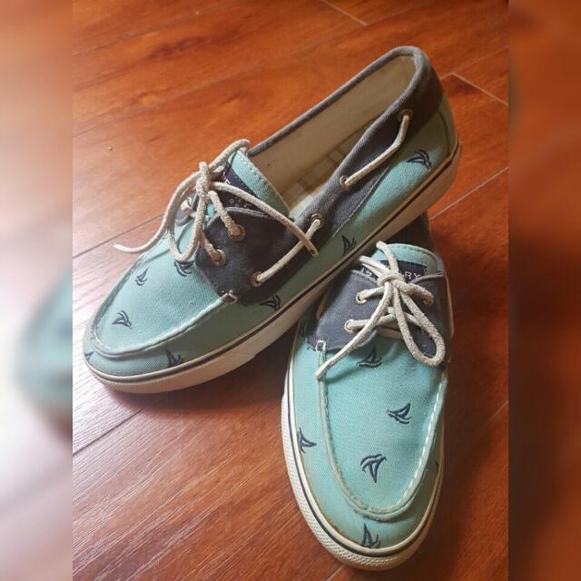 Sperry Top Sider Plaid Fabric 2 Eye Boat Shoes Flats