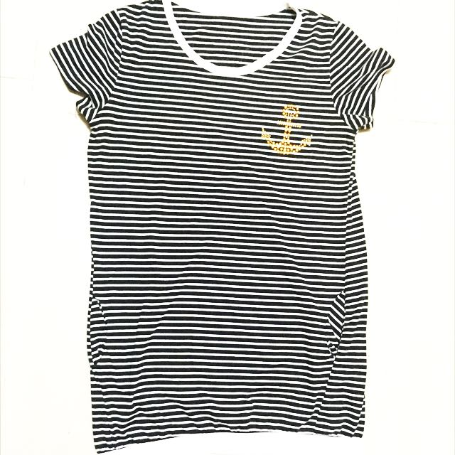 Striped Tunic Top With Pockets