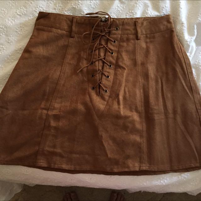 City Beach Suede Skirt
