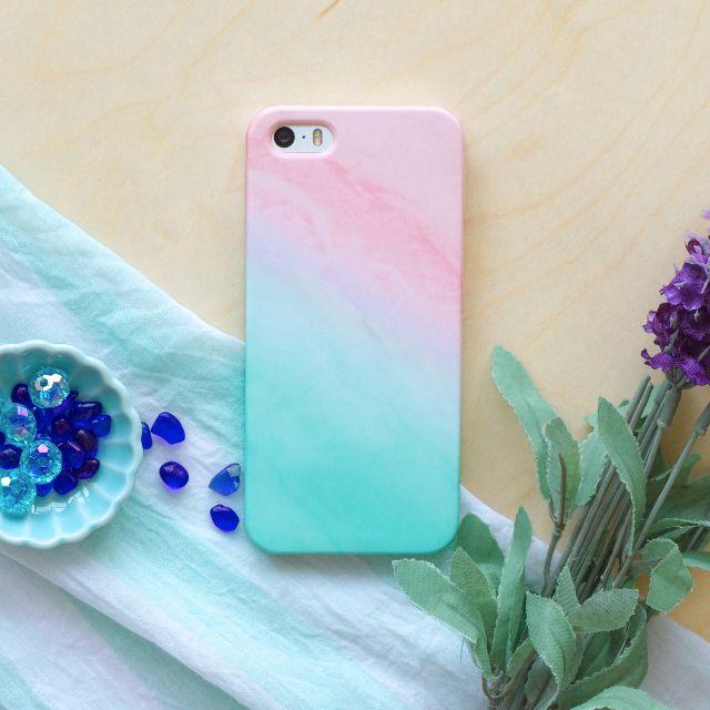 Tiffany藍綠浪漫夢幻仙雲彩//原創手機殼- iPhone, HTC, Samsung, Sony,oppo, LG 磨砂硬殼