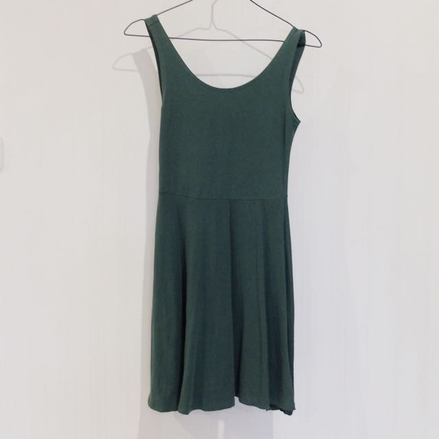 Topshop Basic Dress (Army Green)