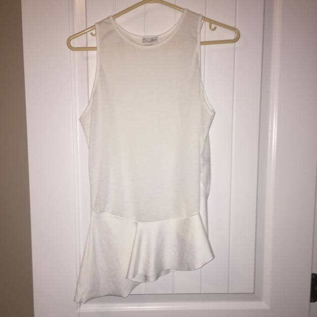 White Zara tank top