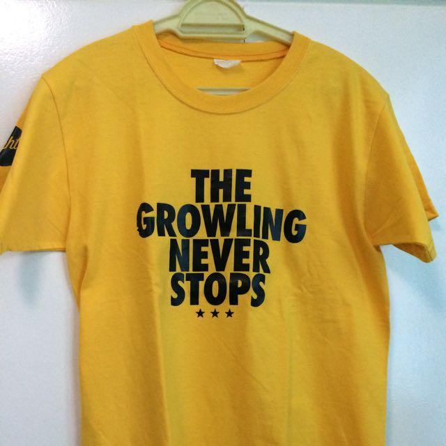 Yellow UST Growling tigers Tshirt