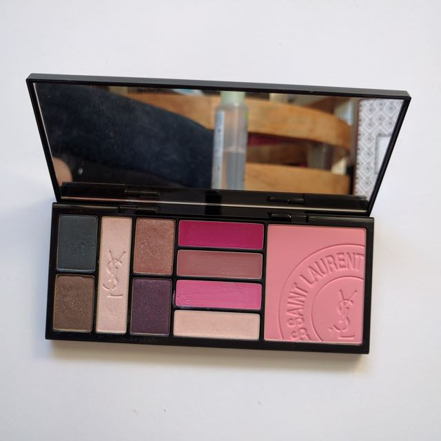 YSL YVES SAINT LAURENT FULL SIZE PALETTE EYESHADOW LIPSTICK BLUSH