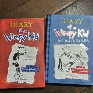 DIARY OF A WIMPY KID- HARDBOUND (300 EACH, BUY BOTH FOR 500)