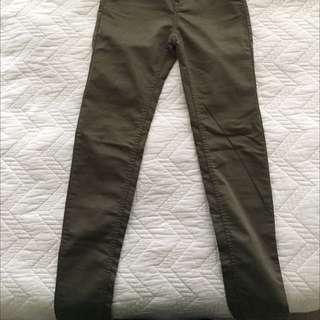 H&M Olive Green Jeans Brand New