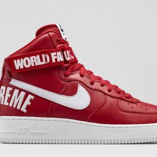 Nike Air Force 1 High Supreme Red (World Famous)