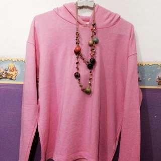 H&M basic pink hoodie