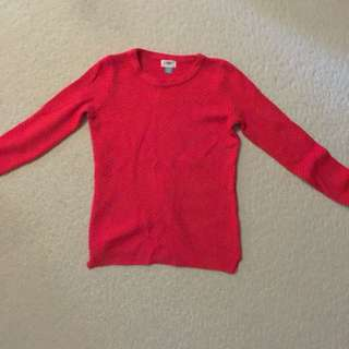 Red Knit Sweater - Old Navy