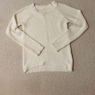 White/Crème Knit Sweater - Aéropostale