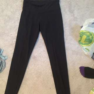Black LuLuLemon Wonder Under Leggings