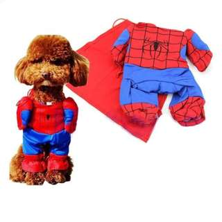 Cat Dog Puppy Kitten Spiderman Costume Clothes Clothing Cosplay