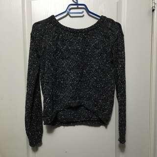 Salt and Pepper Semi Crop Sweater
