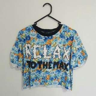 Floral Print Crop T-shirt