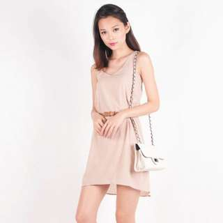 Bronte Casual Day Off Dress (Beige)