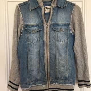 ALL ABOUT EVE Denim Bomber Jacket Size 10